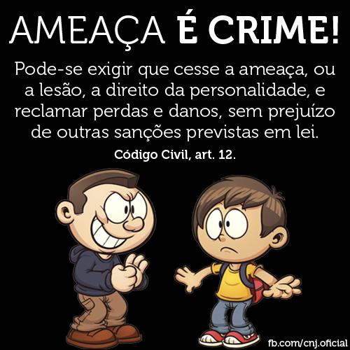 Ameaça é crime